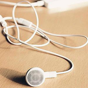Auriculares del proyecto La Escucha Inconsciente